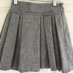 Crewcuts Gray Wool Pleated Skirt Size 4/5